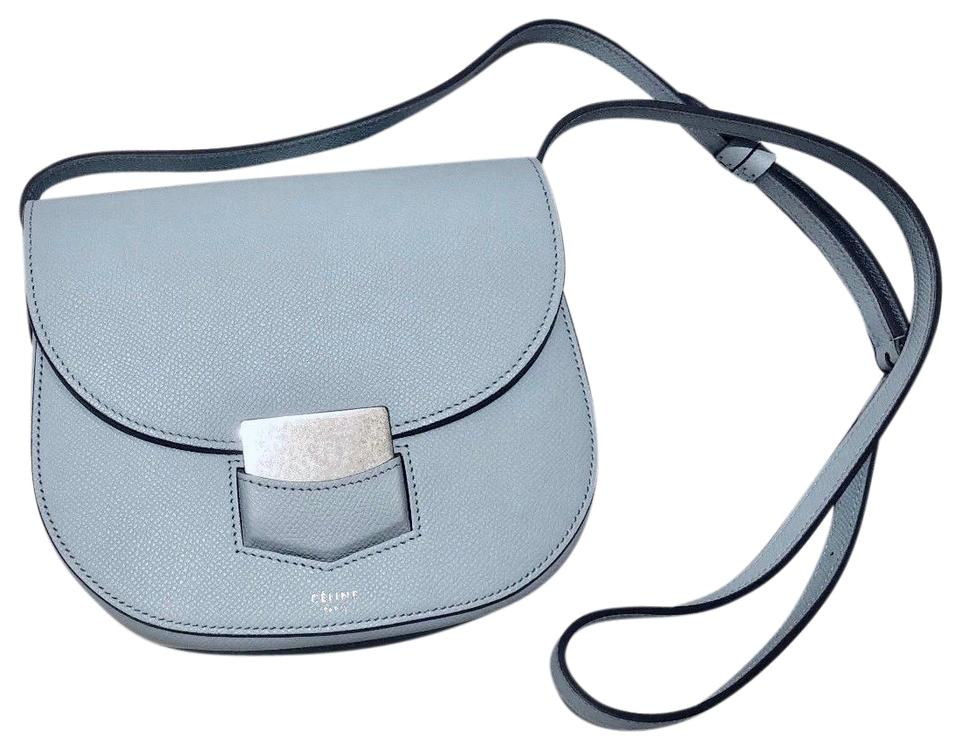 36f4babadaa6 Céline Trotteur Silver Hardware Grained Leather Leather Cross Body Bag ...