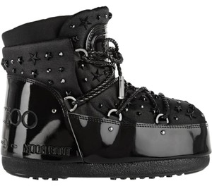 Jimmy Choo Winter Mountains Snow Studs Stars Black Boots