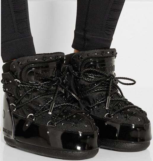Jimmy Choo Winter Mountains Snow Studs Stars Black Boots Image 1