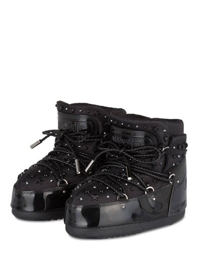 Jimmy Choo Winter Mountains Snow Studs Stars Black Boots Image 3