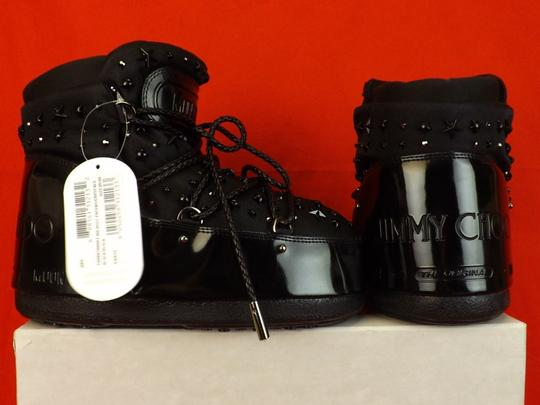 Jimmy Choo Winter Mountains Snow Studs Stars Black Boots Image 4