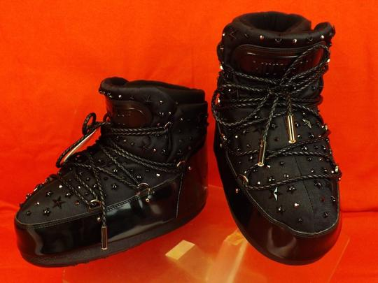 Jimmy Choo Winter Mountains Snow Studs Stars Black Boots Image 5