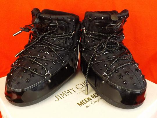 Jimmy Choo Winter Mountains Snow Studs Stars Black Boots Image 9