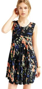 Ecote short dress multicolor Clary Godet Trapeze Urban Outfitters Swing on Tradesy