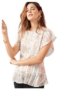 Stella & Dot Addison Floral Top Blush