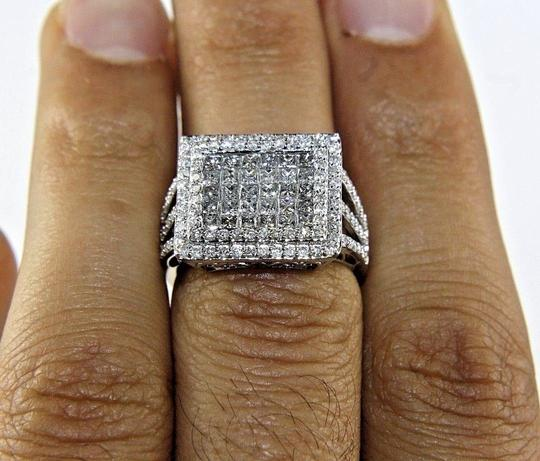 Other Princess Cut Diamond Invisible Square Cluster Ring Band 14k WG 1.90Ct Image 1