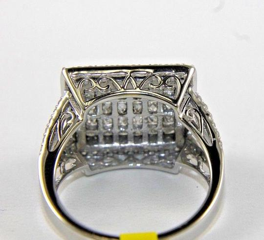 Other Princess Cut Diamond Invisible Square Cluster Ring Band 14k WG 1.90Ct Image 2