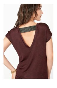 Stella & Dot Renegade And Open Back Top Burgundy