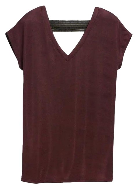 Stella & Dot Renegade And Open Back Top Burgundy Image 2