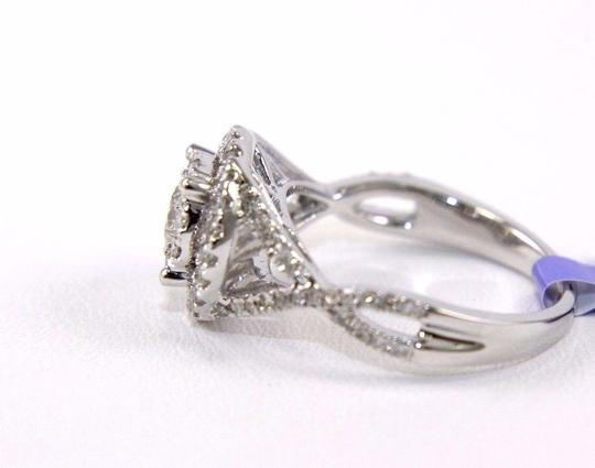 Other Round Cut Diamond Infinity Ring w/Halo & Accents 14k White Gold 1.07Ct Image 2