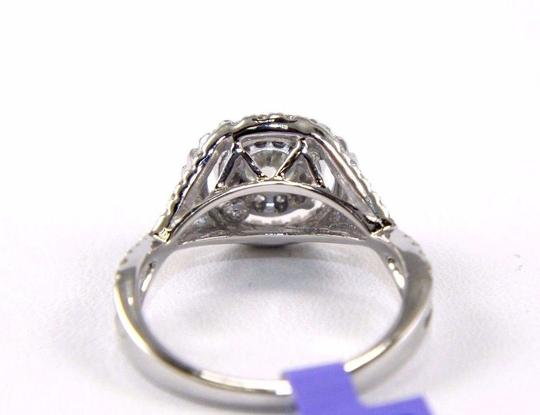 Other Round Cut Diamond Infinity Ring w/Halo & Accents 14k White Gold 1.07Ct Image 3