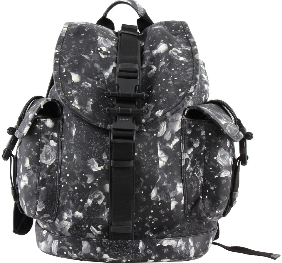 2b27c0bdb229 Givenchy Men s Black Camo Flower-print Multicolor Leather Backpack ...