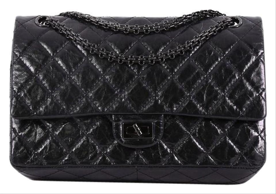 eaa50571911f Chanel 2.55 Reissue So Reissue Handbag Quilted Glazed 226 Black ...