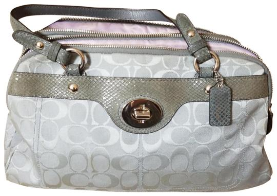 Preload https://img-static.tradesy.com/item/24599348/coach-grey-leather-and-canvas-satchel-0-4-540-540.jpg