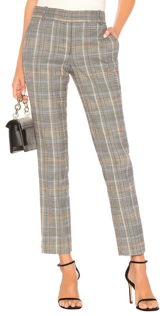 Item - Multicolor Checked Stretch Wool-blend Straight-leg Pants Size 6 (S, 28)