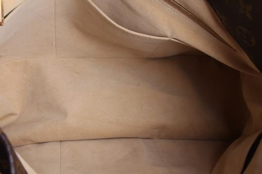 Louis Vuitton Black Leather Tote in Brown Image 10