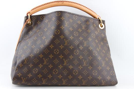 Louis Vuitton Black Leather Tote in Brown Image 2