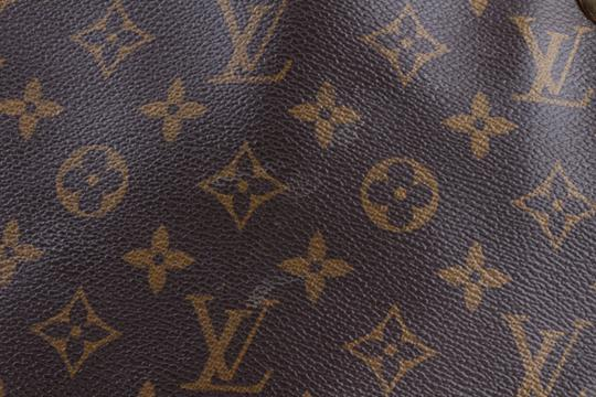 Louis Vuitton Black Leather Tote in Brown Image 7