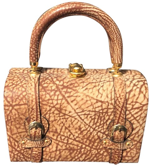 Tano Satchel in Browns, tans, gold/brass Image 0