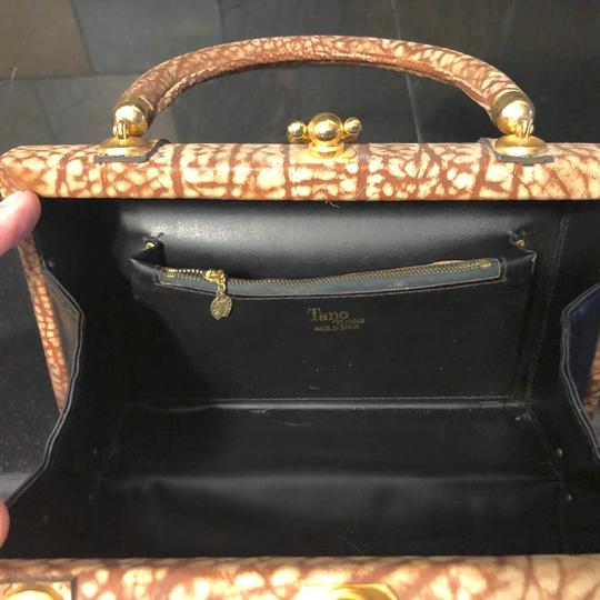 Tano Satchel in Browns, tans, gold/brass Image 3