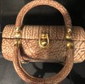 Tano Satchel in Browns, tans, gold/brass Image 4