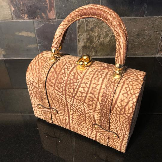 Tano Satchel in Browns, tans, gold/brass Image 5