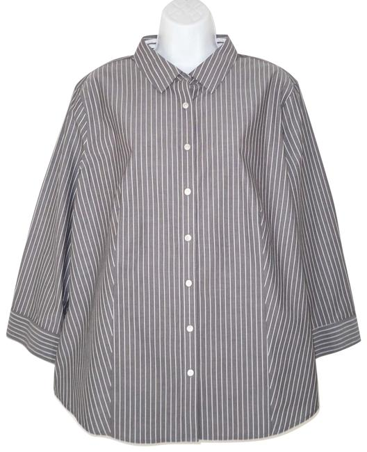 Preload https://img-static.tradesy.com/item/24599504/talbots-graywhite-wrinkle-resistant-shirt-button-down-top-size-18-xl-plus-0x-0-1-650-650.jpg