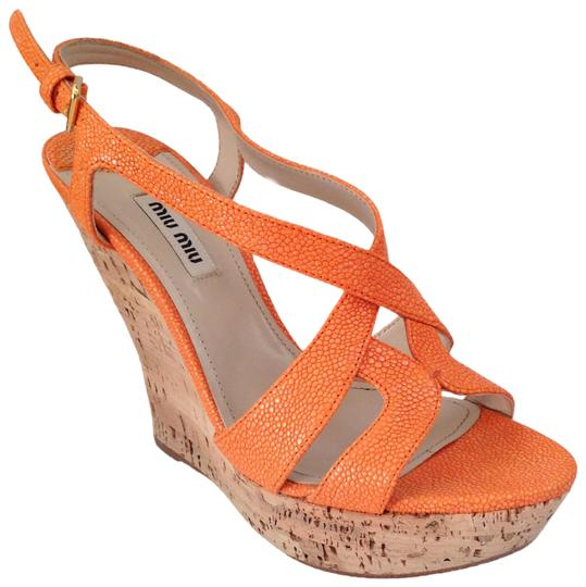 Miu Miu Sandal Summer orange Platforms Image 0