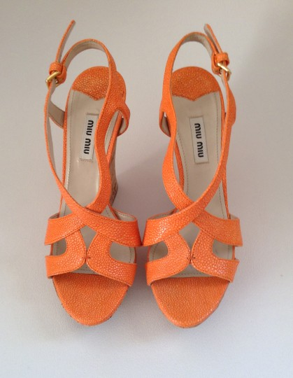 Miu Miu Sandal Summer orange Platforms Image 1
