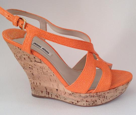 Miu Miu Sandal Summer orange Platforms Image 2