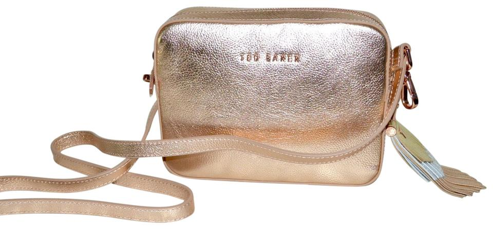 28c436d80ad Ted Baker Darwin Rose Gold Leather Cross Body Bag - Tradesy