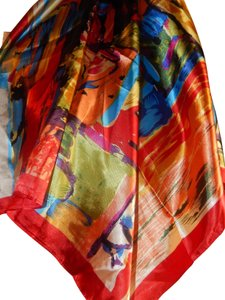 Other NEW GORGEOUS MULTI COLOR POLYESTER SCARF 35X35 new no tags