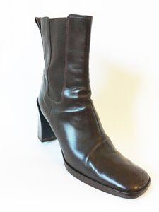 Gucci Leather dark brown Boots