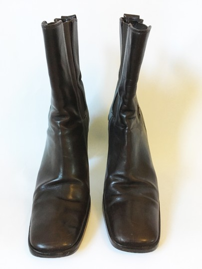 Gucci Leather dark brown Boots Image 2