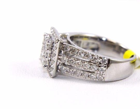 Other Round Diamond Square Cluster Lady's Ring w/Accents 14k WG 2.11Ct Image 2