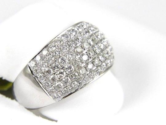 Other Brilliant Wide Round Diamond Cigar Cluster Band 14K White Gold 1.60Ct Image 1