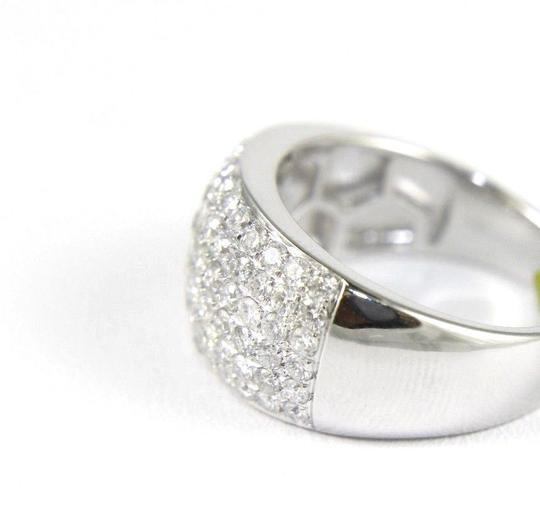 Other Brilliant Wide Round Diamond Cigar Cluster Band 14K White Gold 1.60Ct Image 5