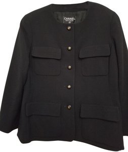 Chanel Channel 3/4 sleeve black suit