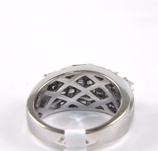 Other Princess & Baguette Diamond Cluster Ring Band 14k White Gold 1.00Ct Image 2