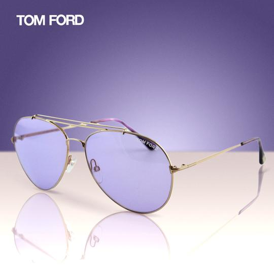 Tom Ford New Tf Indiana FT0497 28Y Women Rose Gold Aviator Sunglasses Image 2