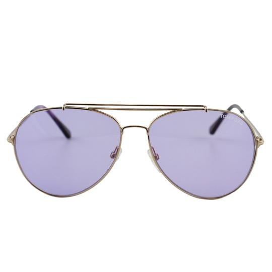 Tom Ford New Tf Indiana FT0497 28Y Women Rose Gold Aviator Sunglasses Image 3