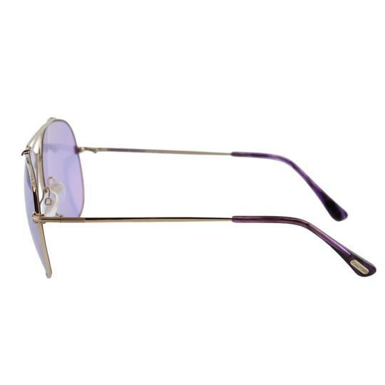 Tom Ford New Tf Indiana FT0497 28Y Women Rose Gold Aviator Sunglasses Image 5