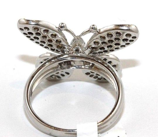 Other Fancy Yellow Diamond Butterfly Shape Cocktail Ring 18k WG 1.30Ct Image 2