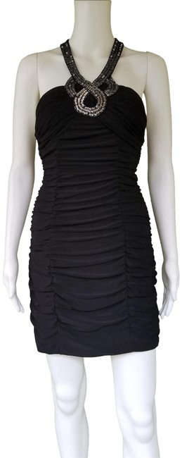 Preload https://img-static.tradesy.com/item/24599689/hailey-logan-black-adrianna-papell-ruched-sequin-short-night-out-dress-size-8-m-0-1-650-650.jpg