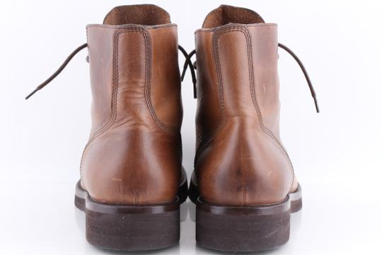 Brunello Cucinelli Brown Leather Lace-up Cap Toe Boots Shoes Image 5