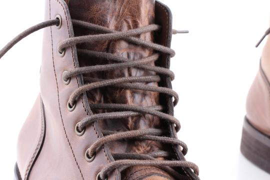 Brunello Cucinelli Brown Leather Lace-up Cap Toe Boots Shoes Image 6