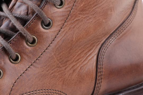 Brunello Cucinelli Brown Leather Lace-up Cap Toe Boots Shoes Image 8