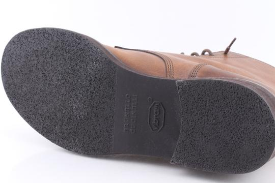 Brunello Cucinelli Brown Leather Lace-up Cap Toe Boots Shoes Image 9
