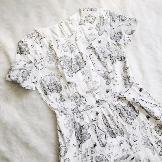 Madewell short dress White and black Map Geography Cute Daytime on Tradesy Image 1