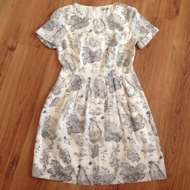 Madewell short dress White and black Map Geography Cute Daytime on Tradesy Image 2
